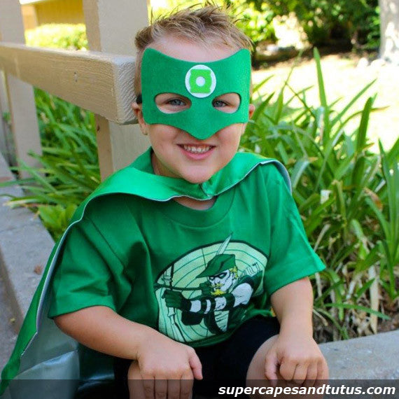 Green Lantern Inspired Cape and Mask Costume