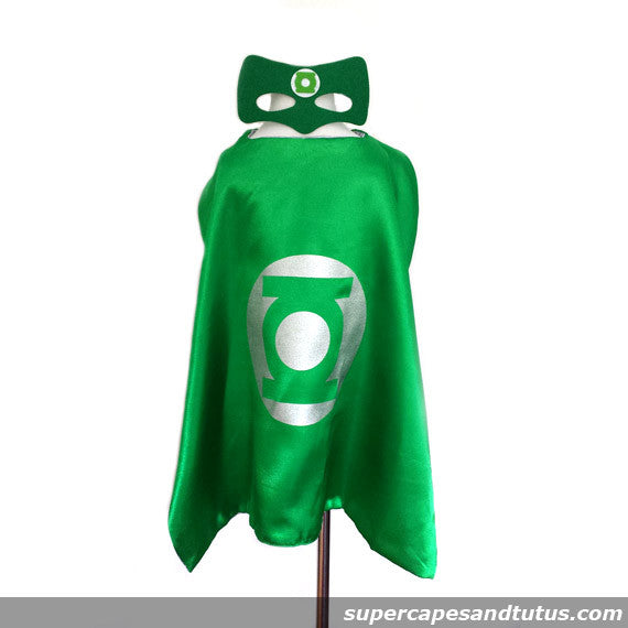 Super Green Torch Superhero Cape and Mask - Super Capes and Tutus, Superhero Capes, [product_tags], Super Capes and Tutus