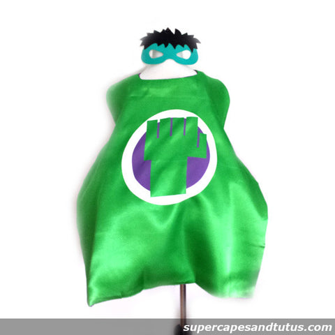 Hulk Superhero Cape and Mask - Super Capes and Tutus, Superhero Capes, [product_tags]