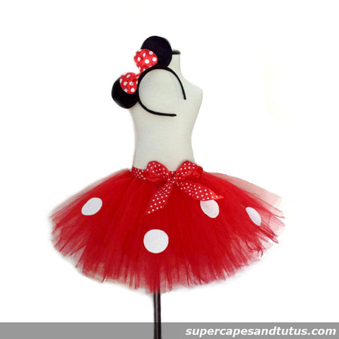 Minnie Mouse Inspired Tutu with Ear Headband - Super Capes and Tutus, Tutu Skirt, [product_tags]