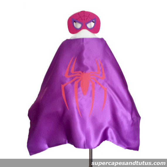 Spidergirl Cape and Mask Costume