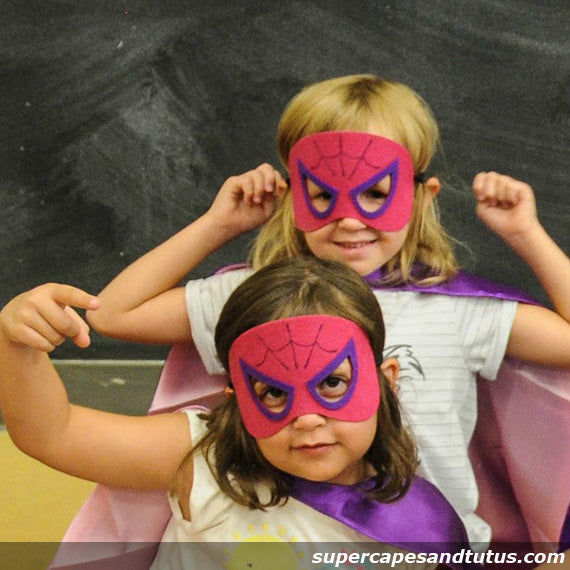 Super Pink Spider Superhero Cape and Mask - Super Capes and Tutus, Superhero Capes, [product_tags], Super Capes and Tutus