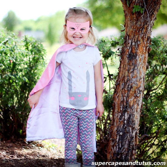 Super Pink Girl Superhero Cape and Mask - Super Capes and Tutus, Superhero Capes, [product_tags], Super Capes and Tutus