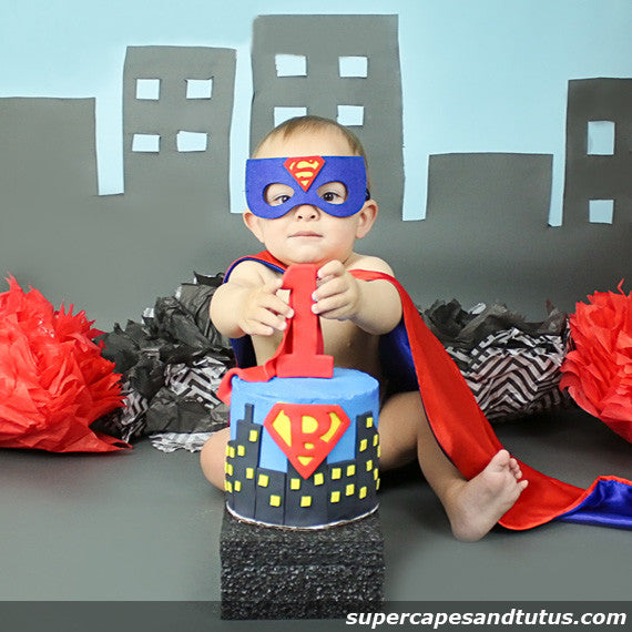 Super Blue Superhero Cape and Mask - Super Capes and Tutus, Superhero Capes, [product_tags]