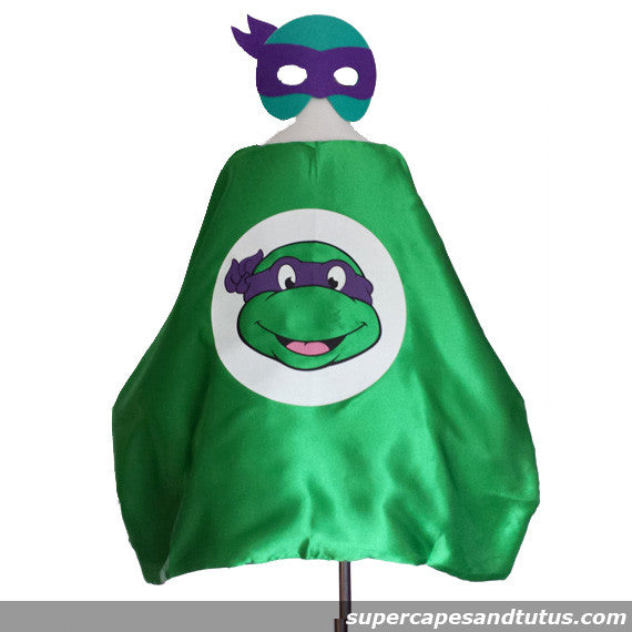 Turtle/ TMNT Cape and Mask - Super Capes and Tutus, Superhero Capes, [product_tags]