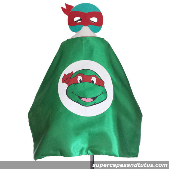 Turtle/ TMNT Cape and Mask - Super Capes and Tutus, Superhero Capes, [product_tags], Super Capes and Tutus