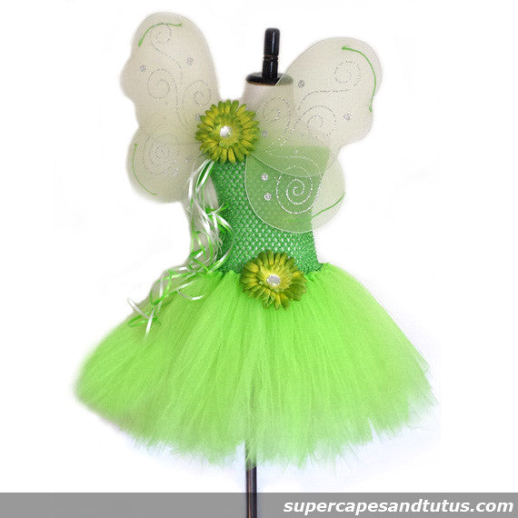 Tinkerbell Inspired Tutu Dress - Super Capes and Tutus, Tutu Dress, [product_tags]