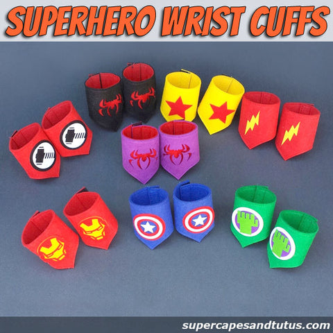 Superhero Wristband/ wristcuffs/ armbands - Super Capes and Tutus, Superhero Wristband/ wristcuffs/ armbands, [product_tags]