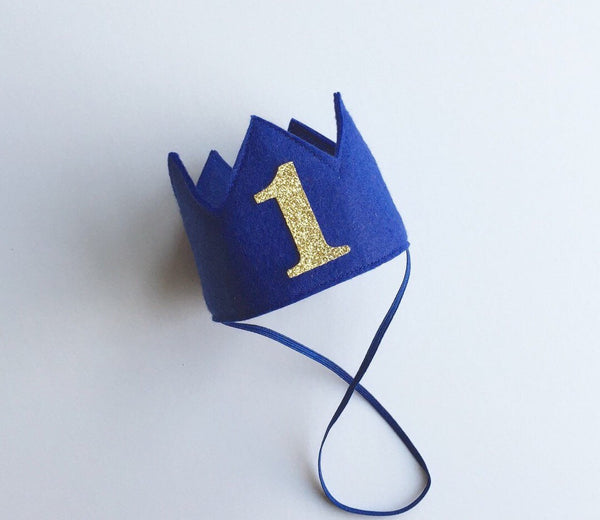 Blue Birthday Boy Crown/ 1st Birthday Crown - Super Capes and Tutus, Birthday Hats, [product_tags]