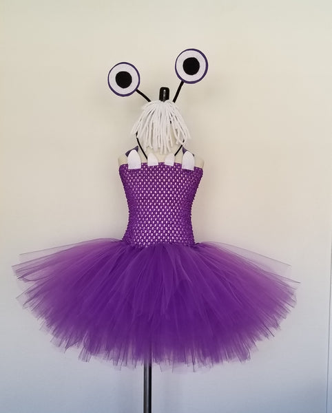 Monster Tutu Dress with Eyes and Hair Headband - Super Capes and Tutus, Tutu Dress, [product_tags], Super Capes and Tutus