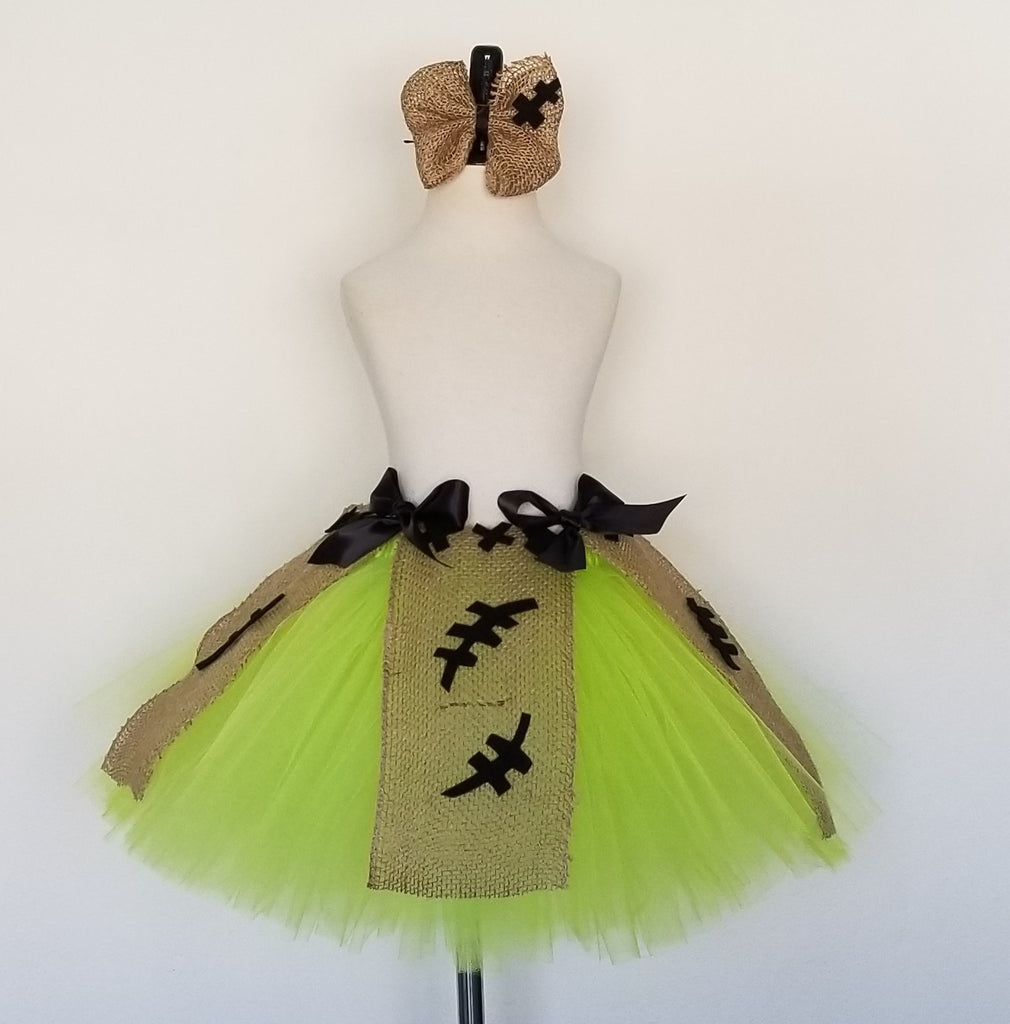Boogie Man Tutu Skirt with Burlap Hairbow - Super Capes and Tutus, Tutu Skirt, [product_tags], Super Capes and Tutus