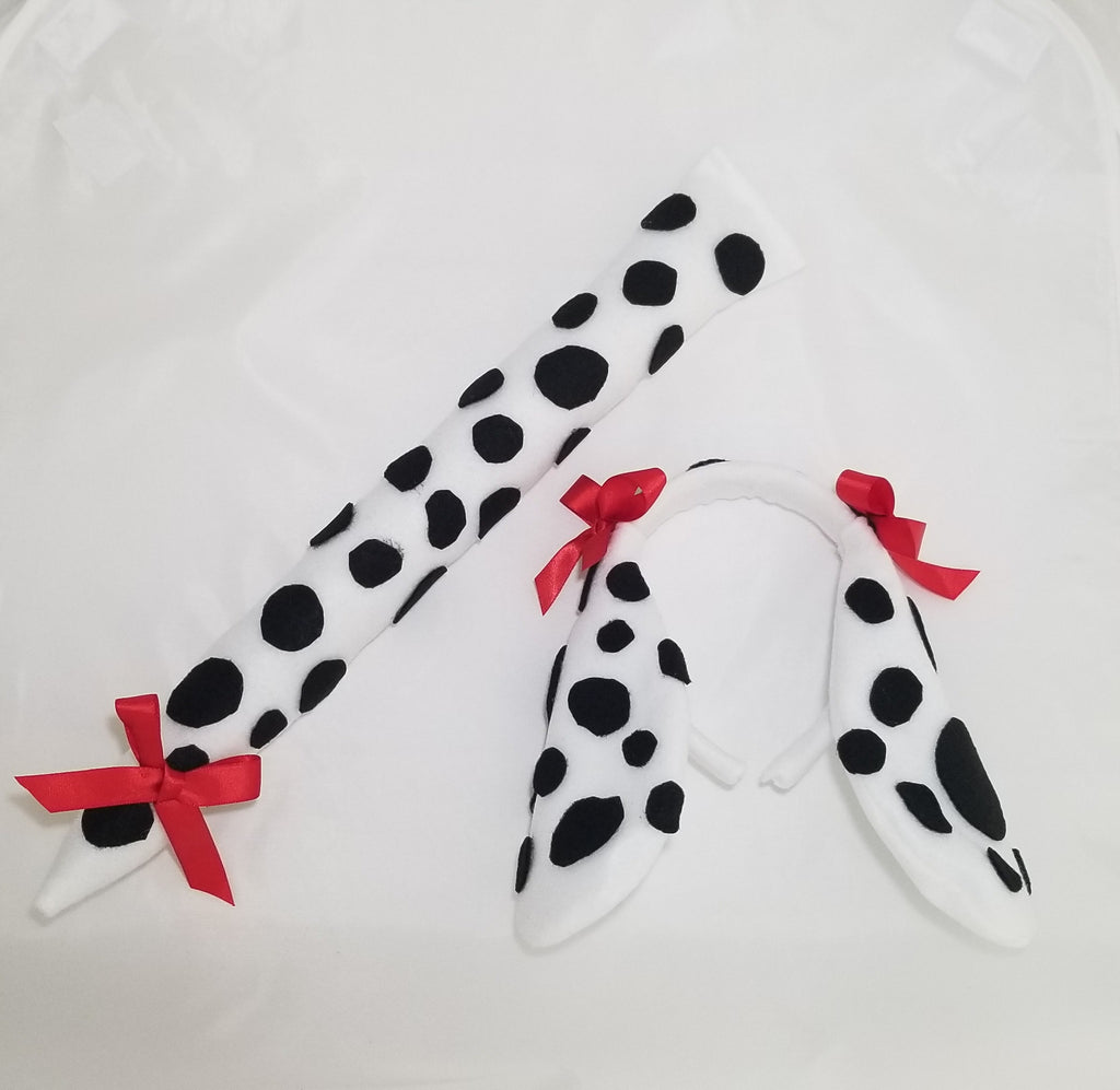 Dalmatian Tail and Ears Headband with Bows - Super Capes and Tutus, Headbands, [product_tags], Super Capes and Tutus