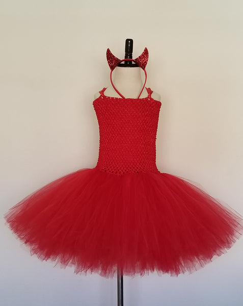 Devil Tutu Dress with Horns and Tail - Super Capes and Tutus, Tutu Dress, [product_tags], Super Capes and Tutus