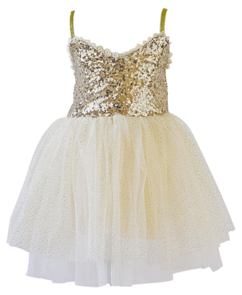 Gold & Ivory Sequin Dress