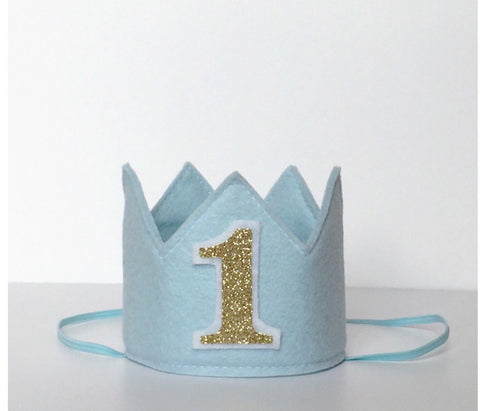 Light Blue Birthday Girl Crown/ 1st Birthday Crown - Super Capes and Tutus, Birthday Hats, [product_tags], Super Capes and Tutus