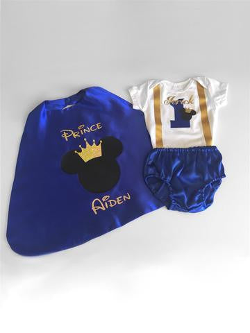 Mouse Prince Birthday Cake Smash Outfit