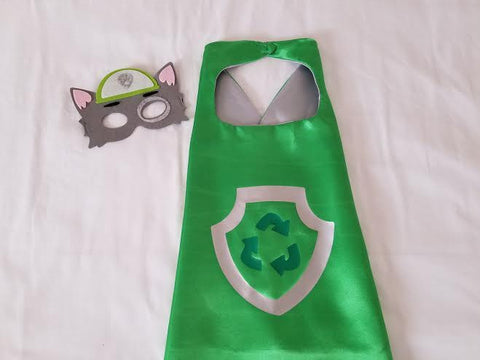 Rocky Paw Patrol Cape and Mask