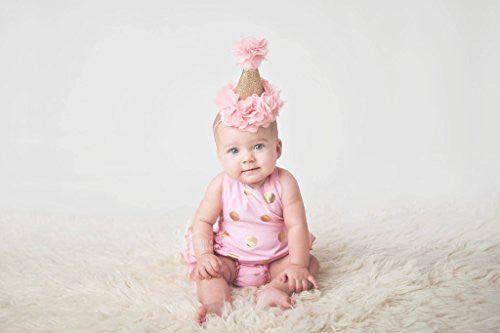 Pink & Gold Glitter Birthday Hat - Super Capes and Tutus, Birthday Hats, [product_tags]