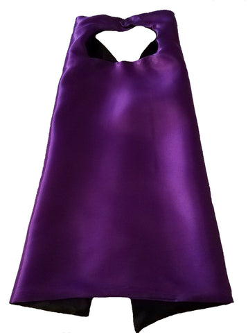 Plain Purple and Black Reversible Superhero Cape - Super Capes and Tutus, Plain Superhero Capes, [product_tags], Super Capes and Tutus