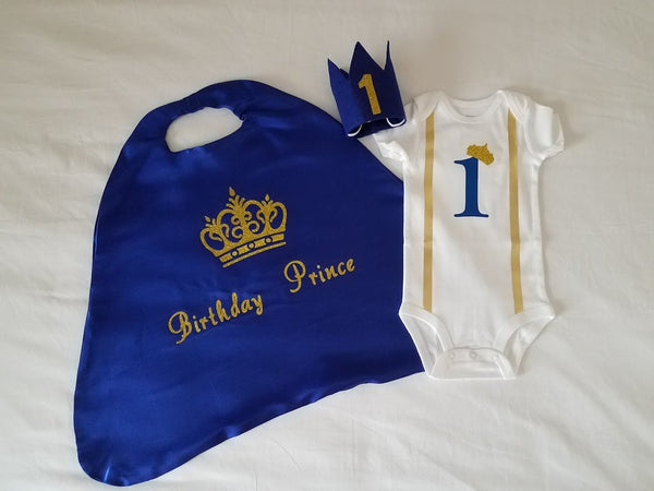 Royal Prince Birthday Cake Smash Outfit