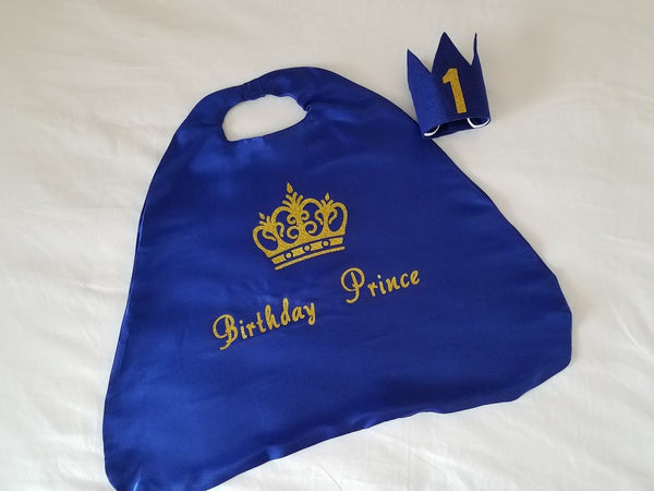 Royal Prince Birthday Cake Smash Outfit - Super Capes and Tutus, Birthday Outfits, [product_tags], Super Capes and Tutus
