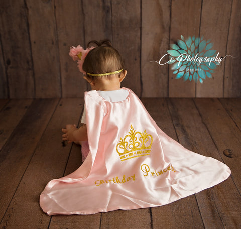 Royal Princess Birthday Cake Smash Outfit - Super Capes and Tutus, Birthday Outfits, [product_tags], Super Capes and Tutus
