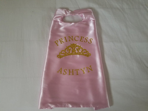 Princess Crown Cape/ Birthday Cape/ Princess Birthday - Super Capes and Tutus, Superhero Capes, [product_tags]