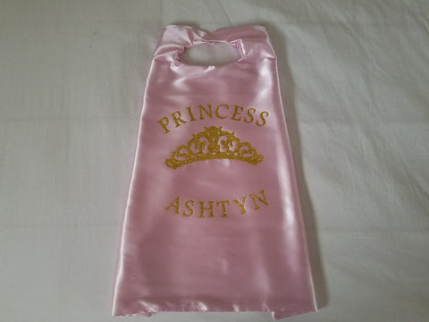 Princess Crown Cape/ Birthday Cape/ Princess Birthday - Super Capes and Tutus, Superhero Capes, [product_tags], Super Capes and Tutus