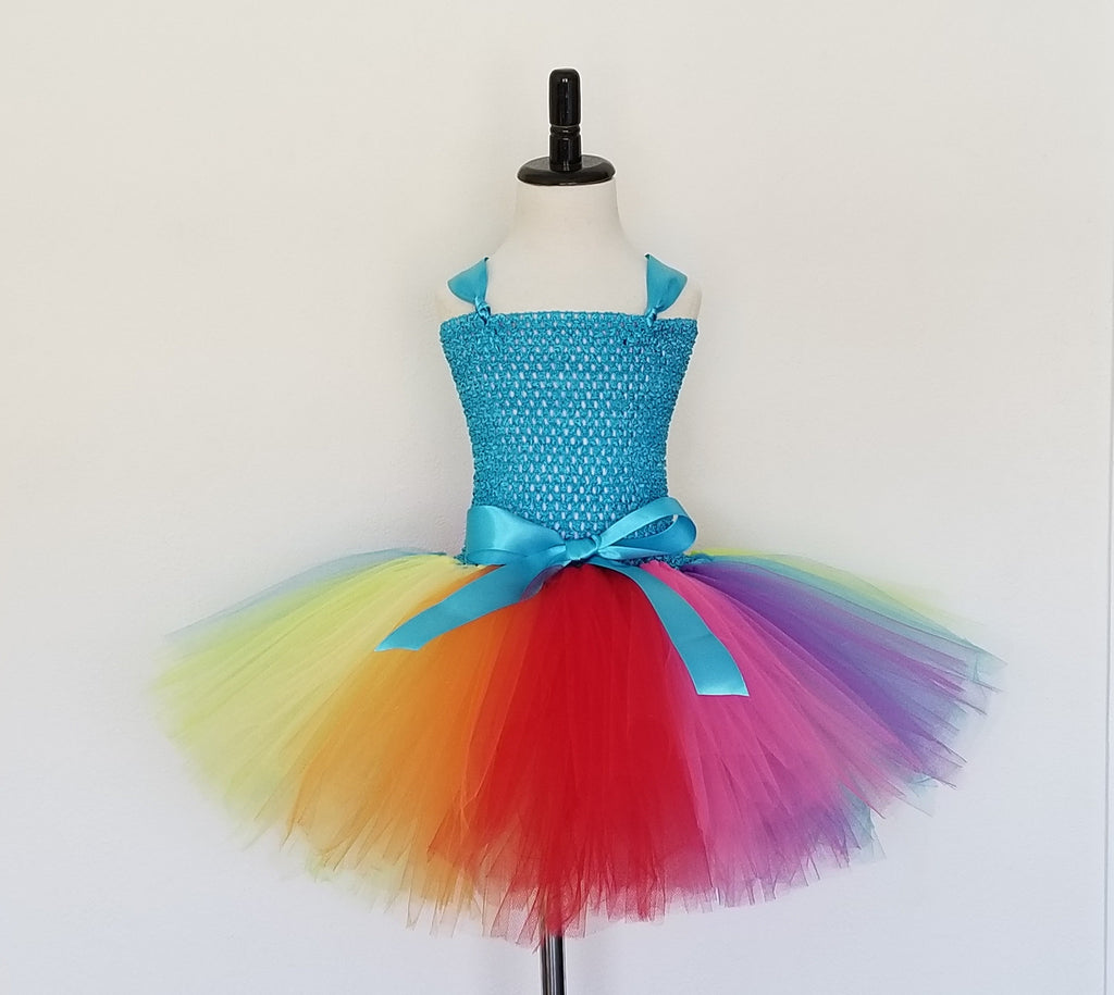 Rainbow Tutu Dress - Super Capes and Tutus, Tutu Dress, [product_tags], Super Capes and Tutus