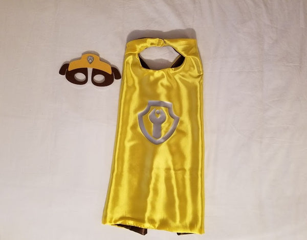 Rubble Paw Patrol Cape and Mask - Super Capes and Tutus, Superhero Capes, [product_tags], Super Capes and Tutus