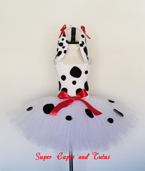 Dalmatian Tutu Dress with Ears and Tail - Super Capes and Tutus, Tutu Dress, [product_tags], Super Capes and Tutus