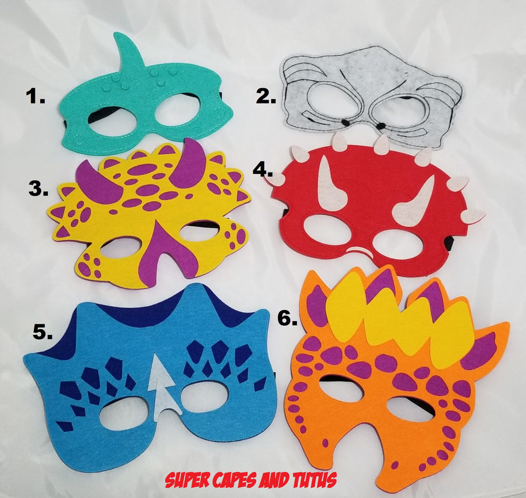 Dinosaur Masks - Super Capes and Tutus, Superhero Masks, [product_tags], Super Capes and Tutus