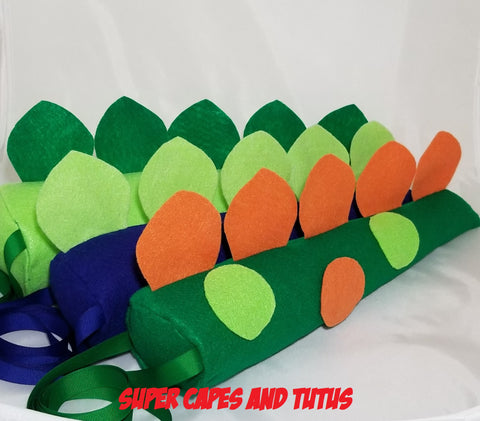 "Party Pack Polka Dot Dinosaur Tails - 12"" Long"
