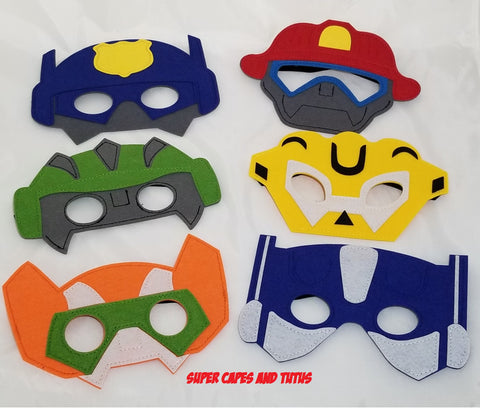 Party Pack Robot Bots Inspired Masks - Super Capes and Tutus, Superhero Masks, [product_tags], Super Capes and Tutus