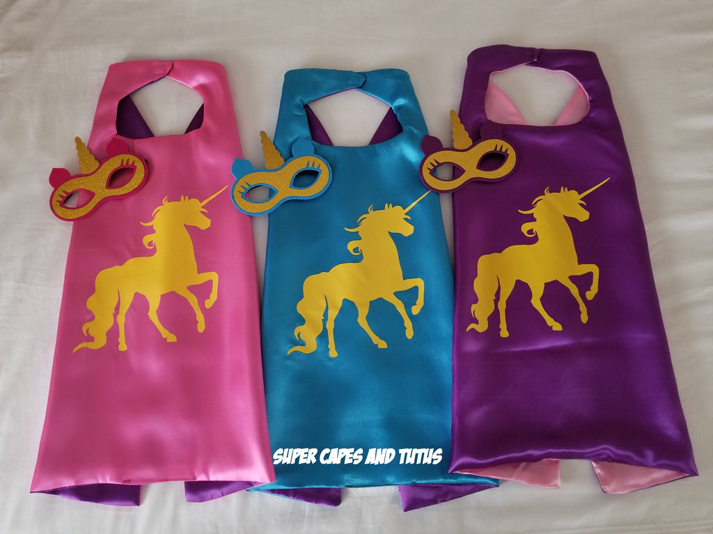 Unicorn Cape and Mask - Super Capes and Tutus, Superhero Capes, [product_tags], Super Capes and Tutus
