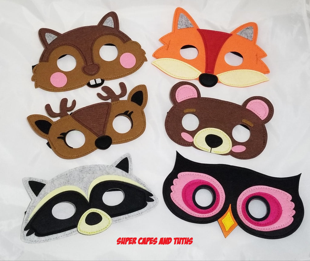 Party Pack Woodland Forest Animal Mask - Super Capes and Tutus, Superhero Masks, [product_tags], Super Capes and Tutus