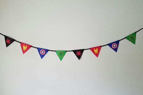 Superhero Birthday Banner - Super Capes and Tutus, Birthday Party Banners, [product_tags]