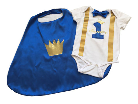 Little Prince Birthday Cake Smash Outfit - Super Capes and Tutus, Birthday Outfits, [product_tags]