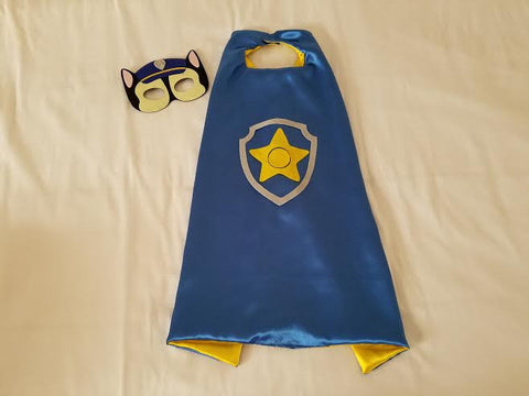 Chase Paw Patrol Cape and Mask - Super Capes and Tutus, Superhero Capes, [product_tags], Super Capes and Tutus