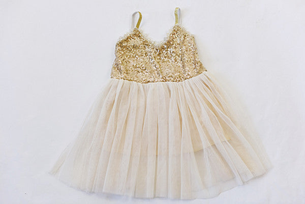Gold & Ivory Sequin Dress - Super Capes and Tutus, Birthday Outfits, [product_tags]