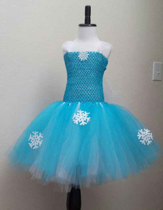 Frozen Elsa Inspired Tutu Dress - Super Capes and Tutus, Tutu Dress, [product_tags]