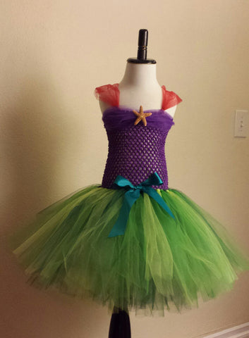 Little Mermaid Inspired Tutu Dress - Super Capes and Tutus, Tutu Dress, [product_tags]