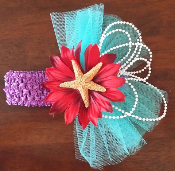 Under the Sea Mermaid Inspired Headband - Super Capes and Tutus, Headbands, [product_tags], Super Capes and Tutus