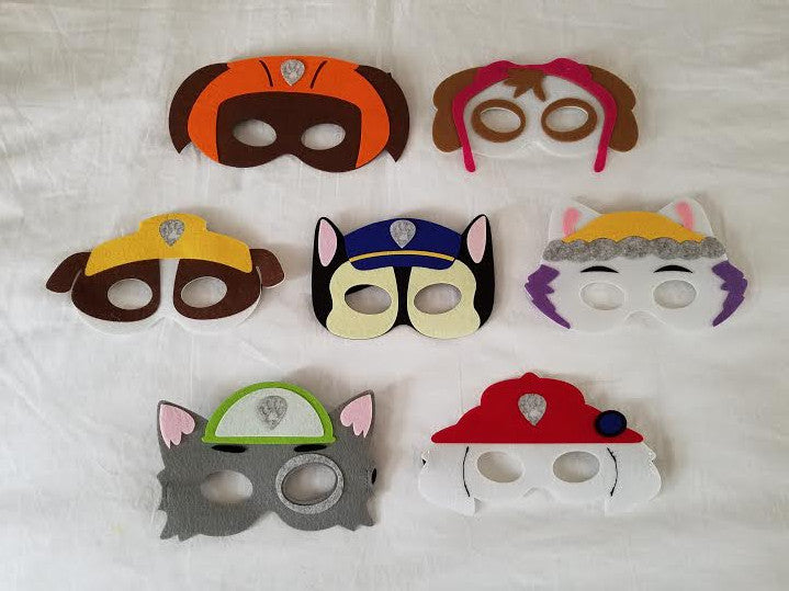 Party Packs!! Paw Patrol Inspired Superhero Mask - Super Capes and Tutus, Superhero Masks, [product_tags]