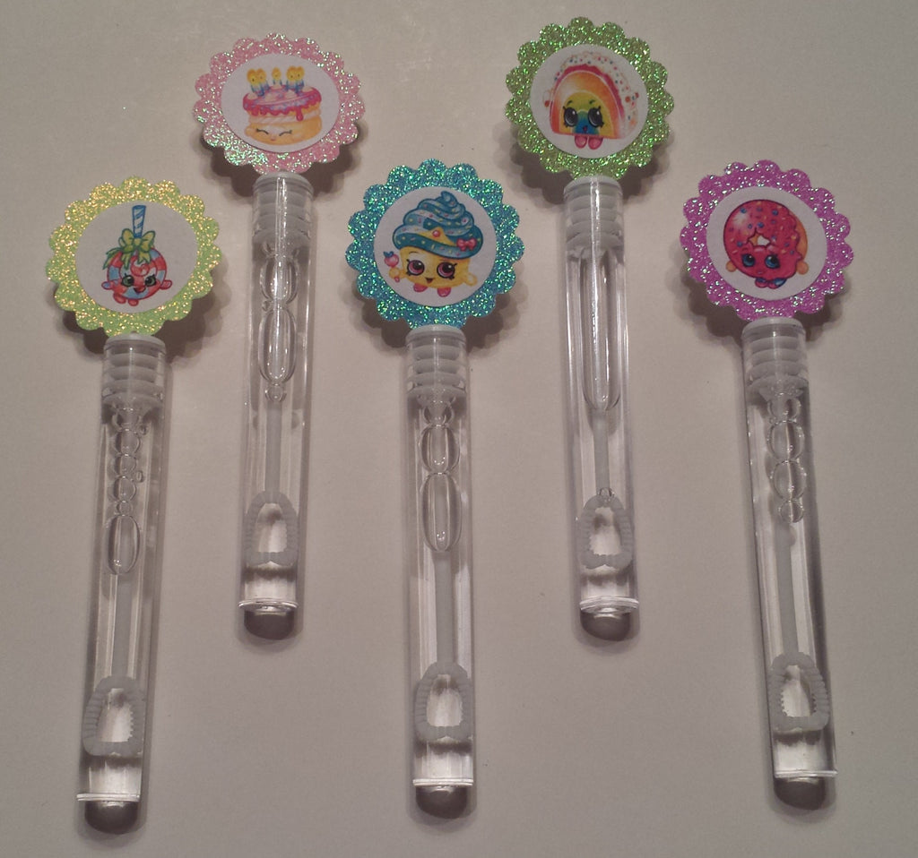 10 Custom Shopkins Bubble Wands/ Bubble Wands Party Favors - Super Capes and Tutus, Bubble Wands, [product_tags]