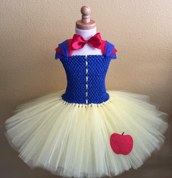 Snow White Inspired Tutu Dress - Super Capes and Tutus, Tutu Dress, [product_tags], Super Capes and Tutus
