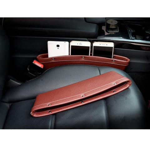 Leather Catch Caddy Seat Catcher - Gap Filler and Organizer in Between Seat & Console