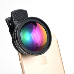 2 in 1 Professional 0.45X Wide Angle High Definition Lens, 12X Macro Lens for all Smart Phones
