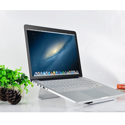 Premium Quality – Aluminum Laptop Stand, HAWK - Hollow Balloon Aluminum Laptop Stand Cooling Pad For Macbook / Laptop 10-17 Inch – 6 Months Warranty - Qtopdeals - 1