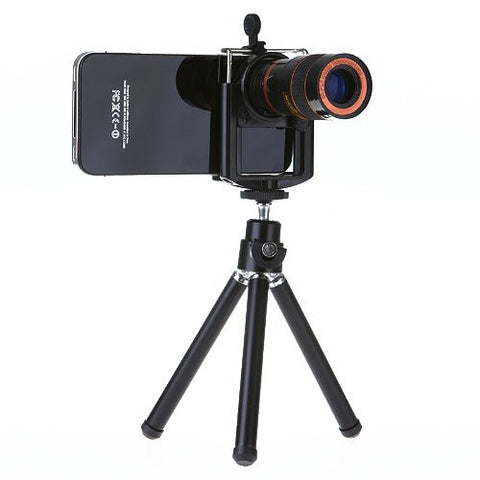 HAWK (R) 8X Zoom Mobile Phone Telescope Long Focal Camera Lens + Tripod